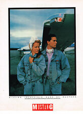 PUBLICITE ADVERTISING 064  1985  MUSTANG   pret à porter