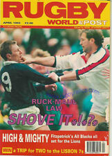 Rugby World Magazine Abril 1993-jóvenes Munster, Hitchin, Bradford Gramática