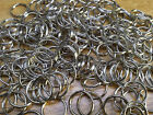 10x Strong Split Ring 25mm keyring shiny silver nickel hoop metal loop key rings