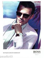 PUBLICITE ADVERTISING 1016  2012  les lunettes solaires  Hugo Boss homme