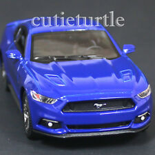 Kinsmart 2015 Ford Mustang GT 5.0 1:38 Diecast Toy Car Blue