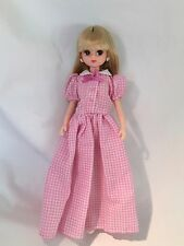 Takara JENNY DOLL IN PINK GINGHAM DRESS VGC