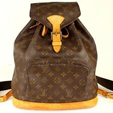 Louis Vuitton Montsouris GM Monogram Canvas Backpack Shoulder Bag #32390