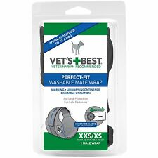 Vet's Best 1 Count Perfect Fit Washable Male Dog Wrap, X-Small/XX-Small, New