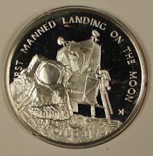 America in Space Series: Apollo XI (11) Sterling Silver Medal in Cardboard