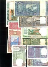 Old Currency Notes of 100 + 10 + 5 (4 DEER) + 5 + 5 + 2 + 2 + 1 + 1+ 1 =10 Notes