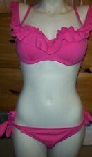 NEW Betsey Johnson pink azalea cake pop bikini swimsuit sz Small top XS bottom