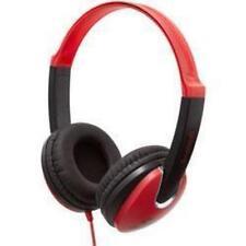 Groov-e GV-590 Kids Full Over Ear Lightweight Stereo iPod Mp3 Headphones Red New
