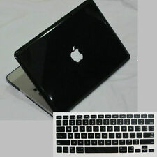 "2in1 Black Crystal Plastic Hard Case Key Cover For OLd Macbook White 13"" A1181"