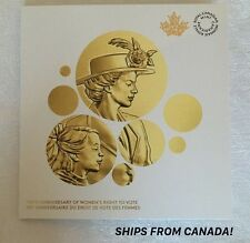 CANADA's 100th Anniversary Of Women's Right To Vote 1916-2016 Coin FOLDER/CARD