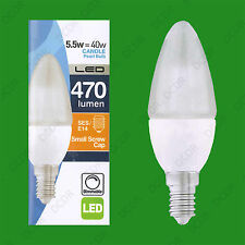 2x 5.5W (=40W) Dimmable LED Pearl Candle, SES E14 Low Energy Light Bulb Lamps