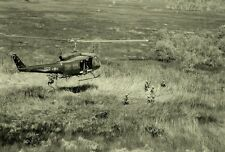 """UH-1D Huey Helicopter hovers above Troops 13""""x 19"""" Vietnam War Photo Poster 126"""