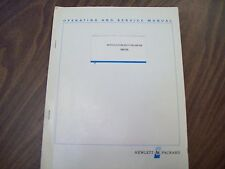 HP 86633B Modulation Section AM-FM Operating and Service Manual