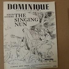 FICHE CHANSON Dominique le chant nun, soeur souriere 1963