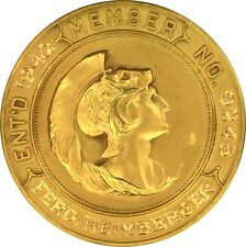 1942 American Numismatic Association ANA Membership Medal #9245 1 oz Coin Gold