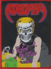 ATROPHY-VIOLENT BY NATURE-WOVEN PATCH-THRASH METAL