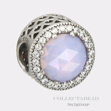 Authentic Pandora Silver Radiant Hearts Opalescent Pink Crystal Bead 791725NOP
