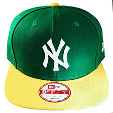 New Era New York Yankees Snapback Hat Green Yellow 2tone Color Cap