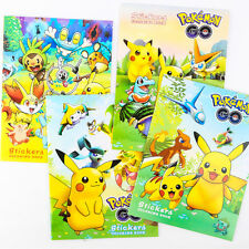 Cartoon Pokemon Go Coloring Book with Small Stickers For Kids Children Education