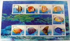 2001 SINGAPORE TROPICAL FISH STAMPS SHEET sc #989-997 SEA LIFE MARINE OCEAN