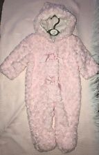 Baby Pink Pram-suit 3-6m- 9-12m ALL Very Soft Fur With Hood  Beautiful Snowsuit