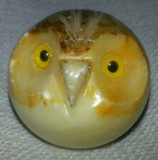 Genuine Alabaster Miniature Handcarved Owl - Made in Italy