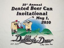 Dented Beer Can College Station Texas Duddley's Draw Golf Golfing T Shirt 2XL