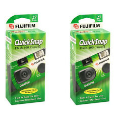 2 Pcs Fujifilm Quicksnap Flash 400 Disposable Single Use 35mm Film Camera