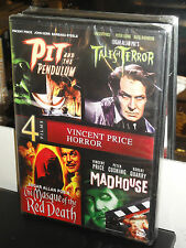 4-Vincent Price Horror Films (DVD) Tales Of Terror / Masque Of The Red Death NEW