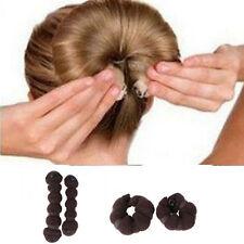 Stunning 2pcs Perfect Bun Maker Women's Hair Piece Hair Net Roll  ❤Aus❤