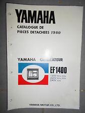 Yamaha groupe électrogène générateur EF1400 - EF 1400 : catalogue pièces 1980