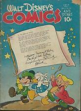 WALT Disney 's Comics & Stories #58 (Carl Barks) Walt Kelly (1945) $775,-