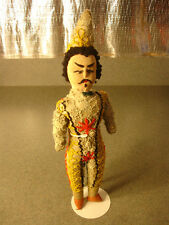 Old Vtg Antique Collectible Stocking Or Sock Doll Spain? Spanish? Hand Stitched
