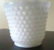 Vintage Milk Glass Hobnail Planter Pot ~ by FIRE KING?  AWESOME WEDDING PIECE!