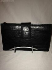 VINTAGE BRAND BLACK ZIP AROUND FAUX LEATHER WALLET NWOT