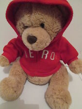 AEROPOSTALE COLLECTIBLE TEDDY BEAR 16 INCHES BROWN PLUSH RED SWEATSHIRT C1019