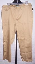 NWT Lauren Ralph Lauren Brown Slimming Fit Straight Capri Pants Misses Size 12