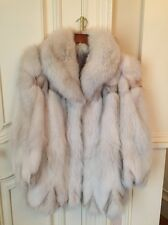 Silver Fox Real Genuine Fur Coat Short Large Woman Size
