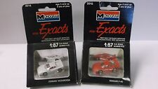 Pair of 1990 Monogram Mini Exacts Ferrari F-40 & Ferrari Testarossa in 1/87th