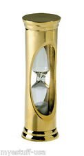 Brass 3 Minute Sand Hour Glass by Authentic Models HG001