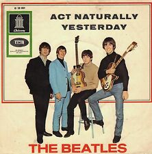 """7"""" Beatles – Act Naturally / Yesterday // Germany 1966"""