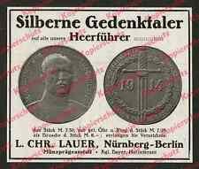 o. Reklame Münzprägeanstalt Lauer Nürnberg Ludendorff Numismatik Geschichte 1918