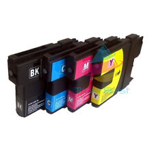 Set of 4 Compatible LC61 Ink Cartridge for Brother MFC-250C MFC-255CW MFC-290C