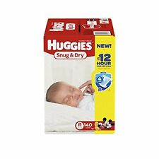 Huggies Snug and Dry Disposable Baby Diapers 140 COUNT NEWBORN  BRAND NEW!!
