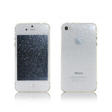 Front & Back Silver Diamond Sparkling Glitter Screen Protector for iPhone 4s/ s