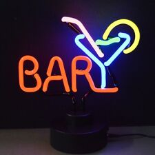 New Martini drink in glass neon sign bar lamp sculpture display Fast Free Ship