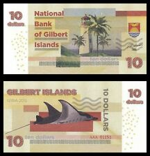 GILBERT ISLANDS / KIRIBATI - Billet de 10 DOLLARS - RAIE MANTA - 2015 - NEUF