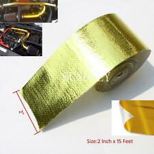 "2"" x 15' Self Adhesive Reflective Gold High Temperature Heat Shield Wrap Tape"