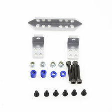 Alloy Rear Shock Support DIY Mount Set Silver for Axial SCX10 RC Crawler