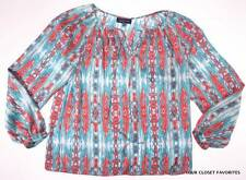 JONES NEW YORK Peasant Top Women's L LARGE Long Sleeve Blouse nwt